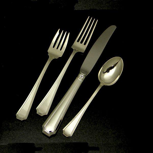 gorham fairfax sterling silver flatware 4pc