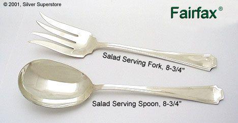 Sterling Silver Flatware Gorham Fairfax Salad Fork