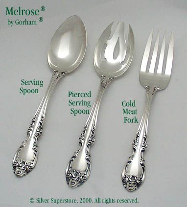 @ Gorham Melrose Sterling Silver Cream Soup Spoon