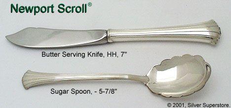 Newport Scroll Sterling Flatware By Gorham