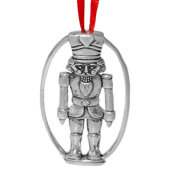 Hand and Hammer Nutcracker Sterling Silver Ornament