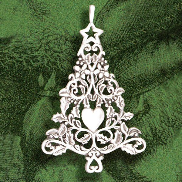 White Silver Ornament Silvers: 2014 Hand & Hammer Victorian Christmas Tree Ornament
