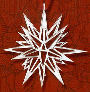 Hand Amp Hammer Moravian Star Christmas Ornament Sterling