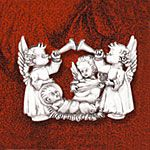 Angel Serenade Sterling Silver Ornament by Hand & Hammer