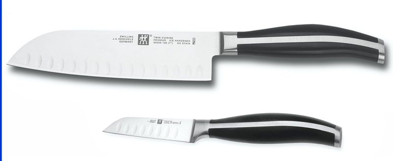 2 Piece Deluxe Asian Santoku Knife Set Twin Cuisine By Ja Henckels