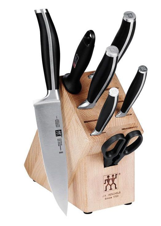 8 Piece Cutlery And Block Set Twin Cuisine Knives By Ja