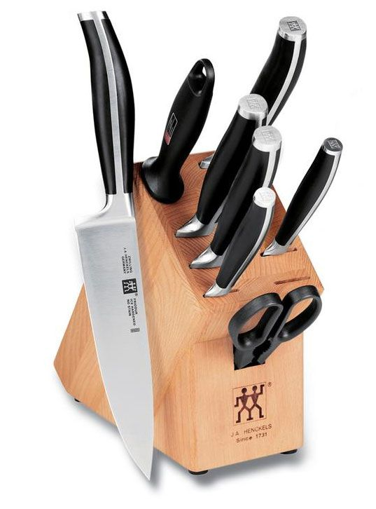 9 Piece Cutlery And Block Set Twin Cuisine Knives By Ja