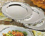 Goldinger Baroque Silver Charger Plates