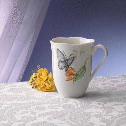 Lenox Butterfly Meadow Blue Butterfly Mug, China