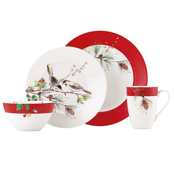Larger Image  sc 1 st  Silver Superstore & Lenox Winter Song Casual China Dinnerware | Silver Superstore