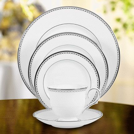 Pearl Platinum Lenox China & Pearl Platinum formal fine china dishes dinnerware by Lenox China