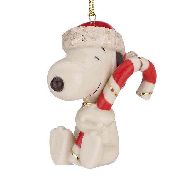 Snoopy Christmas Tree Topper: Lenox Snoopy's Sweet Treat Christmas Porcelain Ornament