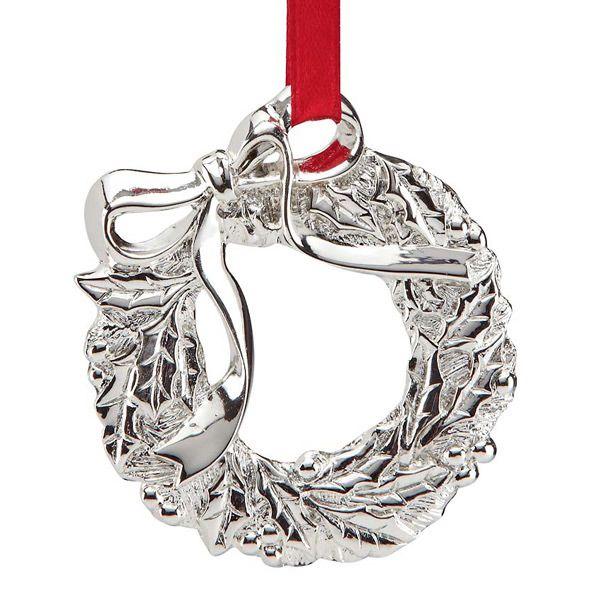 Lenox Wreath Charm Silver Ornament Silver Superstore