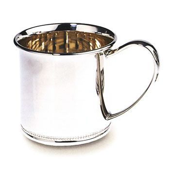 Beaded Edge Sterling Silver Baby Cup by Lunt Silver