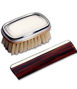 Lunt Military Style Sterling Silver Boy's Brush & Comb Set