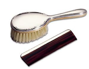 Lunt Classic Girls Sterling Silver Brush and Comb Set