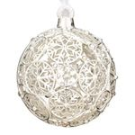 2012 Lunt Jeweled Cross Silver Christmas Ornament