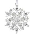 2012 Lunt Jeweled Snowflake Silver Christmas  Ornament