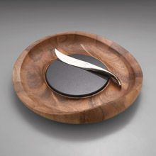 Butterfly Cheese Tray with Knife by Nambe