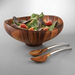 Nambe Butterfly Salad Serving Bowls