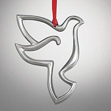 2013 nambe dove silver plate ornament