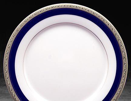 Noritake Crestwood Cobalt Platinum Dinnerware Dinner Plate & Crestwood Cobalt Platinum china dinnerware by Noritake