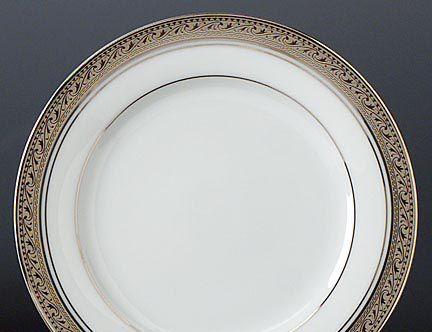Noritake Crestwood Platinum Dinnerware Bread and Butter Plate & Crestwood Platinum formal china dinnerware by Noritake China