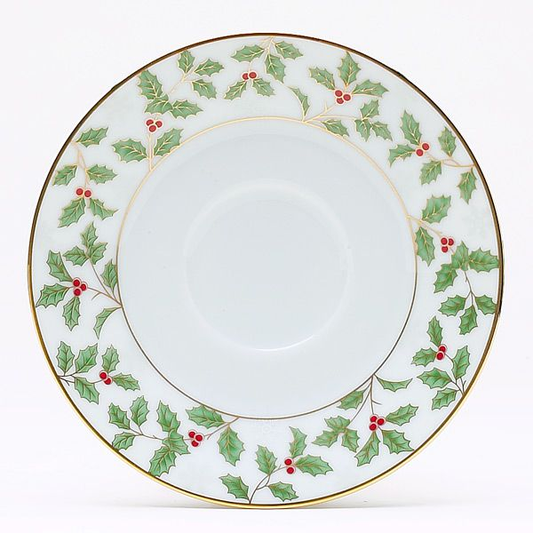 Noritake Holly and Berry Gold Saucer  sc 1 st  Silver Superstore & Holly u0026 Berry Gold formal china dinnerware by Noritake
