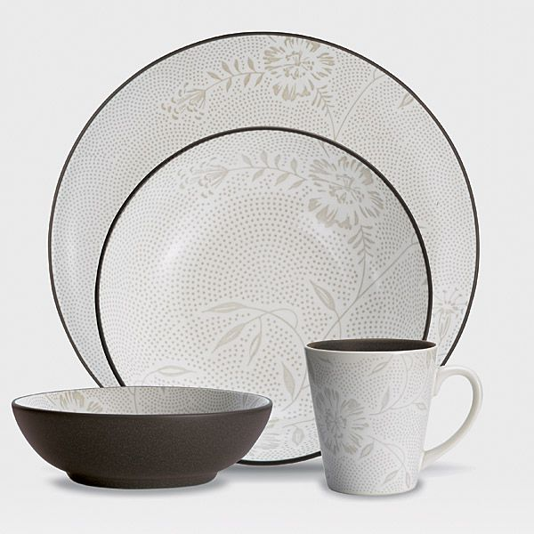 Noritake Colorwave Chocolate 4pc Place Setting Bloom  sc 1 st  Silver Superstore & Colorwave Chocolate stoneware at discount by Noritake ...