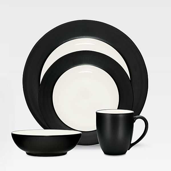 Colorwave Graphite stoneware at discount by Noritake ...