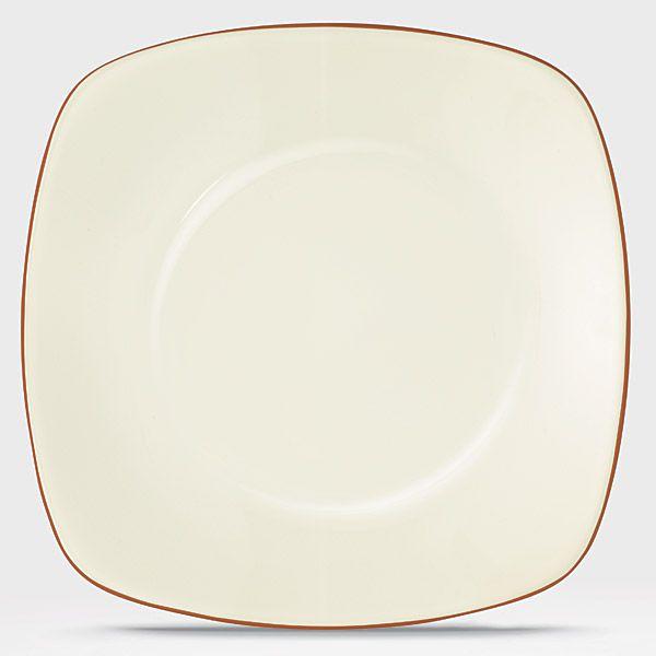Service for 8 Noritake Colorwave Terra Cotta Rim 32Pc Dinnerware Set