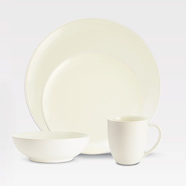 Noritake Colorwave White Dinnerware 4pc Place Setting Coupe & Noritake Colorwave White Stoneware Every Item | Silver Superstore