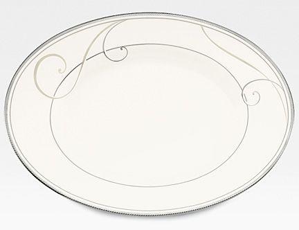 Noritake Platinum Wave Relish Tray  sc 1 st  Silver Superstore & Platinum Wave formal china dinnerware by Noritake China