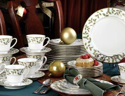 Holly and Berry Gold Noritake China