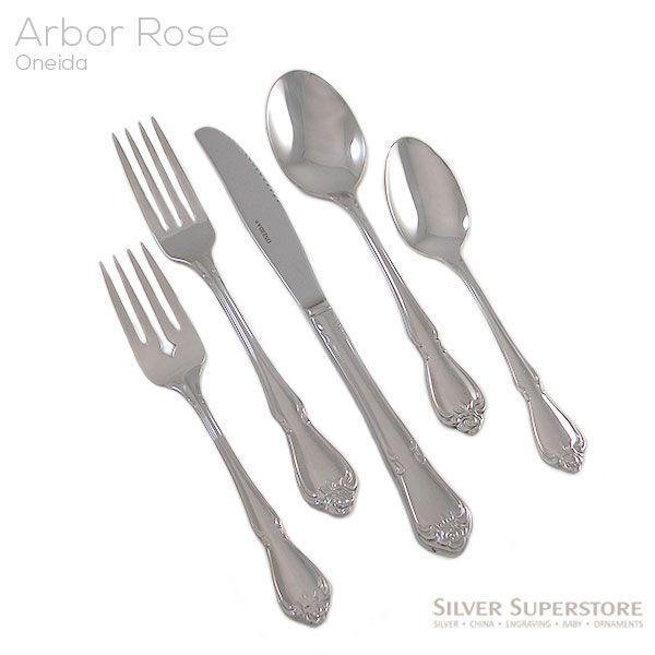 Arbor Rose True Rose By Oneida Stainless Steel Flatware