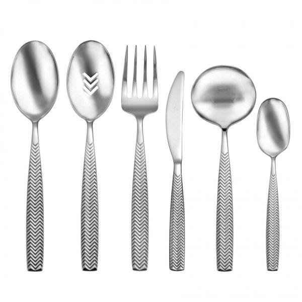 oneida chival stainless steel flatware 6pc serving set