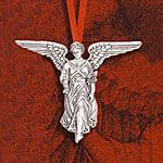 Hand and Hammer Angel of the Waters Sterling Silver Christmas Ornament