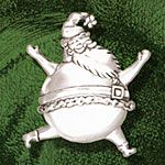 Hand & Hammer Bouncing Santa Sterling Silver Christmas Ornament