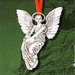Hand and Hammer Thayer Angel Sterling Silver Christmas Ornament