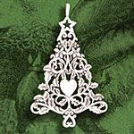 Hand and Hammer Victorian Tree Sterling Silver Christmas Ornament