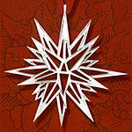 Hand and Hammer Moravian Star Sterling Silver Christmas Ornament