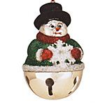 Reed and Barton Snowmand Sleigh Bell ornament