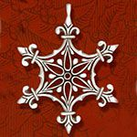 Hand and Hammer Renaissance Star Sterling Silver Christmas Ornament