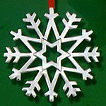 Hand and Hammer Snowflake Sterling Silver Christmas Ornament