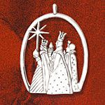 Hand and Hammer Three Kings Sterling Silver Christmas Ornament