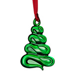 2015 Orrefors Holly Days Green Chirstmas Tree Ornament