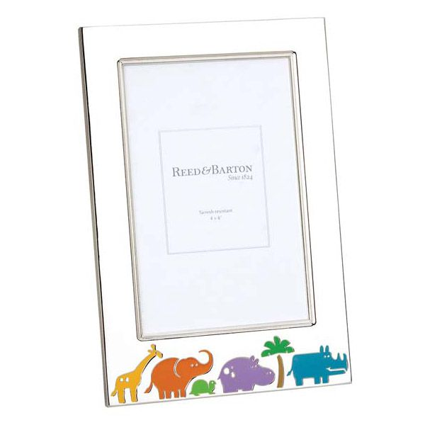 Reed And Barton Jungle Parade Silver Plated Picture Frames