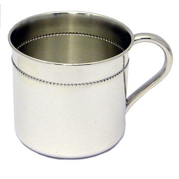 Beaded Sterling Silver Baby Cup by Reed & Barton