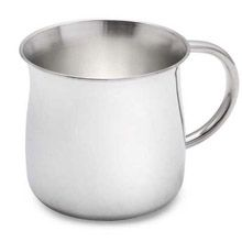 Curved Sterling Silver Baby Cup by Reed & Barton