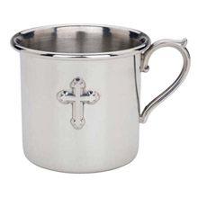 Cross Pewter Baby Cup by Reed & Barton